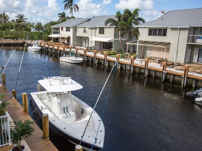 Photo for 2 Bedroom 2.5 Bath Waterfront Townhome with private dock & close to the beach!