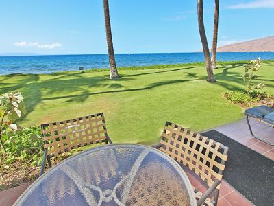 Photo for Amazing Beachfront Condo, 1BR Ground Floor, From $270/nt ~ Maalaea Surf A2