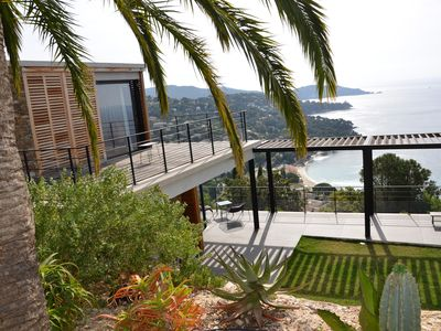 Photo for Quality Villa with stunning sea view and heated salt water pool
