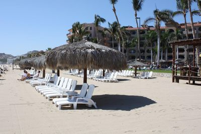 The beach in front of Coral Baja