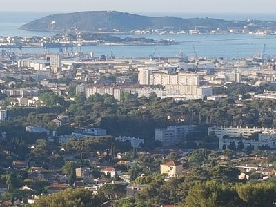 Photo for rent T2 nine air-conditioned Toulon seen sea