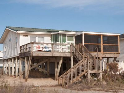 Photo for Da Ba Ka La: 4 Bed/2 Bath Home with Direct Beach Access, Oceanfront Screened Porch and Open Deck