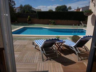 Photo for Beautiful townhouse in Porto Colom with pool, Jacuzzi, AC and Wifi