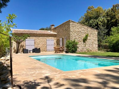 Photo for Great independence of villa with exclusive swimming pool in 3min of Uzes