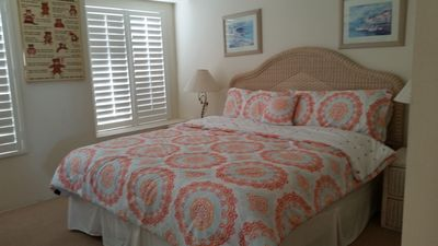 Upstairs bedroom with king bed and ensuite bath