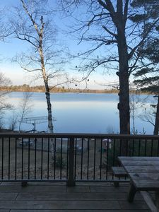 Photo for Beautiful lake front cabin on Round Lake, of the famous Pike Lake Chain