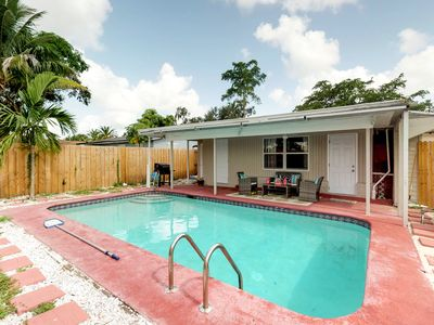 Photo for NEW LISTING! Charming home in Hollywood w/private pool close to Hollywood beach