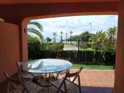 Photo for Ground floor with sea views on the first line of the beach