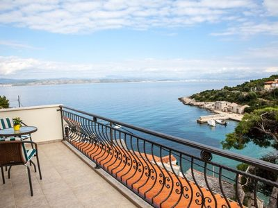 Photo for Apartment More  - Cove Donja Krusica (Donje selo), Island Solta, Croatia