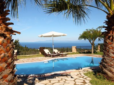 Photo for Luxury stone villa Thanasis  with view to the Ionian Sea