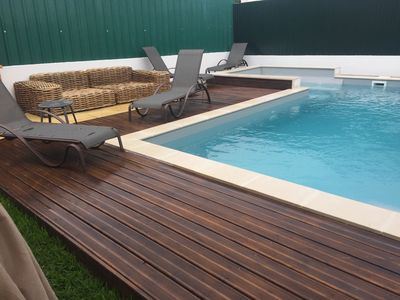 Photo for Villa with pool and jacuzzi, 5 minutes from the beach