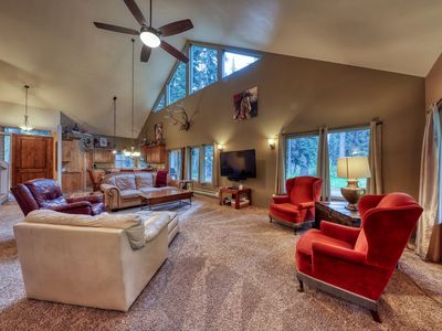 Photo for Rustic McCall lodge w/ community beach access, a deck, Ping-Pong, & foosball