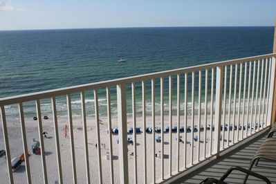 Beautiful balcony view! Plenty of seating to enjoy your AM coffee or PM beverage