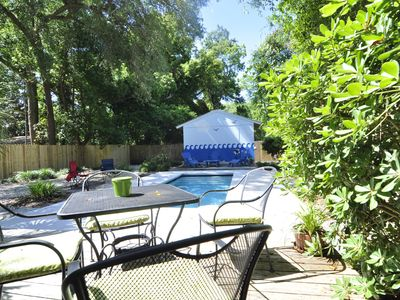 Photo for Charming 3/3 cottage with pool near beach and village