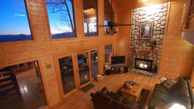 Photo for HAWKS RIDGE HIDEAWAY- Luxury Cabin & Great Get-Away! Amaazing view!