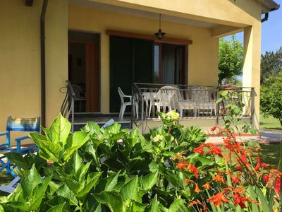 Photo for Traditional villa with garden and covered terrace in historical surroundings