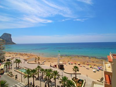 Photo for Sunny and central Liberty apartment with sea views next to the beach in Calpe