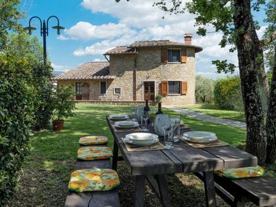 Photo for Vacation home Villa del Poggio (RDD160) in Radda in Chianti - 8 persons, 3 bedrooms