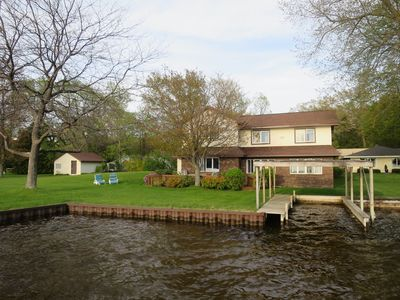 Photo for Hamlin Lake Water Front-Family/Dog  Friendly Home
