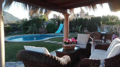 Photo for WIFI Villa with garden and private pool, near the village and beaches. Pollença