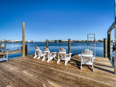 Photo for Spacious, dog-friendly home located on the bay with a dock and beautiful views!