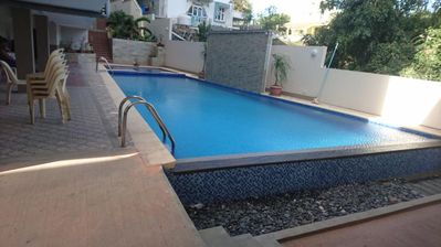 Photo for Apartment Triveni hight with a pool , 3 mn from the Ocean