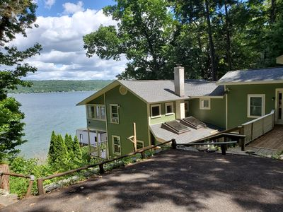 Photo for Beautiful Ithaca Lake House with Spectacular Views, Private Beach & Docks