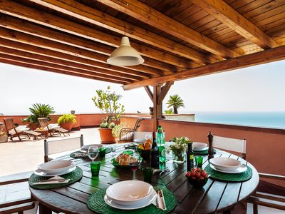 Photo for Casa San Domenico, central penthouse with panoramic view