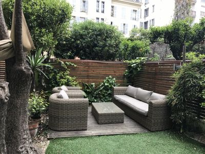 Photo for Garden Apartment, NEWLY renovated in Central Nice