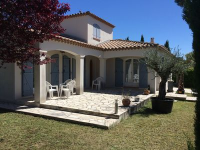 Photo for Beautiful villa for rent between sea and Pic Saint Loup