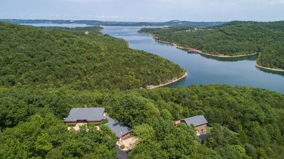 Photo for Turtle Ridge - Pet Friendly Gorgeous Table Rock Lake Home with Guest House