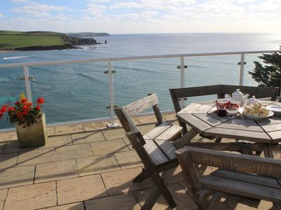 Photo for superb apartment with stunning sea views, private access to secluded beach
