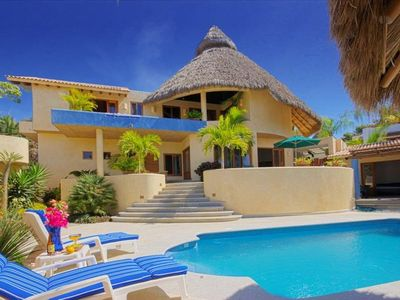 Photo for Gorgeous Vacation Mexican Villa with Pool-1 Block to Beach