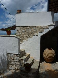 The outside staircase