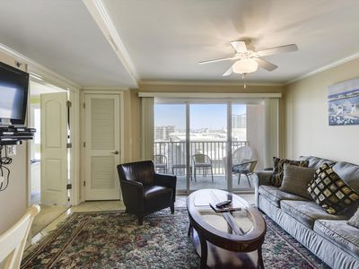 Photo for Bay Views on Your Balcony - Indoor Pool - 1.5 Blocks to Beach & Convention Ctr.