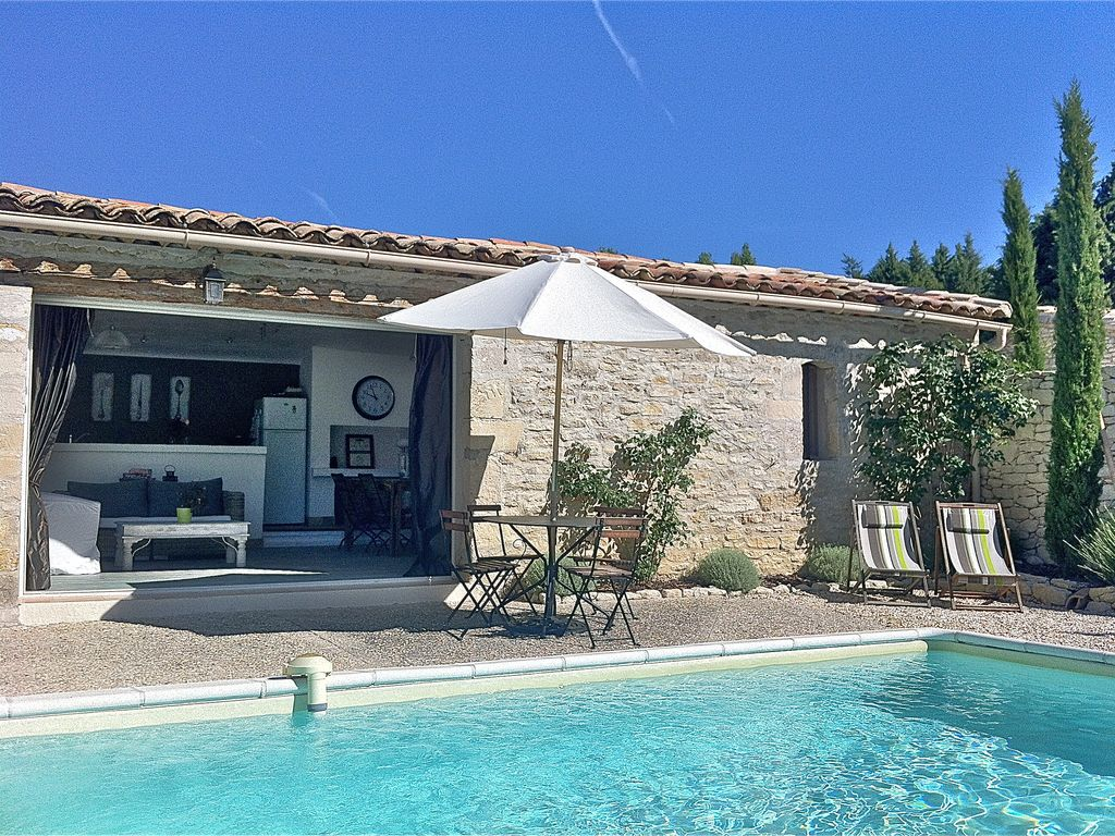le petit bastidon charming stone built cottage gordes private 928830 - Big Houses With Pools With Slides