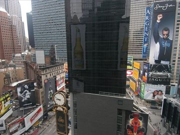Actually in Times Square-Stunning View on Broadway
