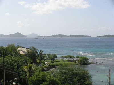 View from our balcony looking out toward St Thomas
