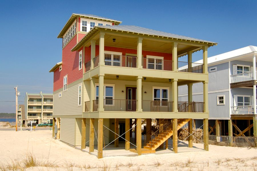 Gulf front 6 bedroom home with a private pool great views for Beach house plans gulf coast