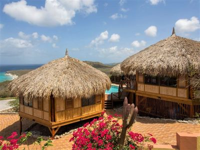 Breezy Caribbean Palapa House with Private Pool and Great Seaviews