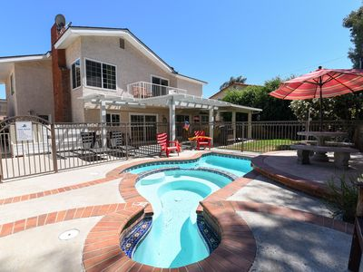 Photo for $300/night  from Aug 5-11  - 2500sf house,  4 Brs, 3 Baths, Spa, Wading Pool