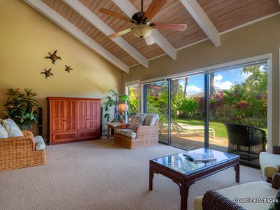Photo for Poipu Single Level Home with Air Conditioning and Private Yard - Near Shipwrecks