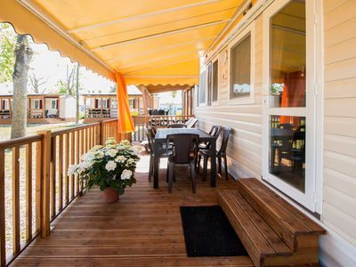 Photo for Mobilehome with air conditioning and a covered terrace