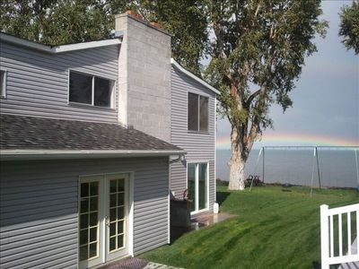 View from the back of the home facing the wonderful Bear Lake