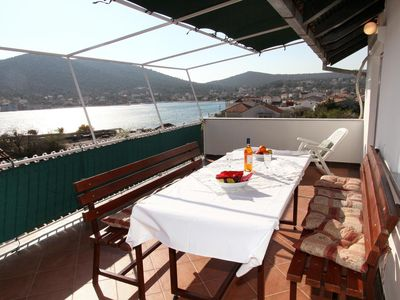 Photo for Two bedroom apartment with terrace and sea view Vinišće, Trogir (A-11856-b)