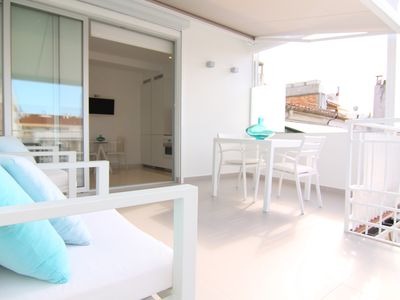 Photo for Fantastic penthouse with terrace of 15m2 with sea views