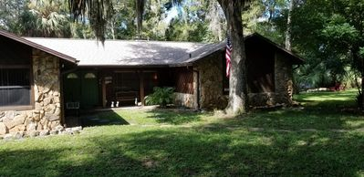 Photo for Riverfront, very private, great for families, pet friendly!
