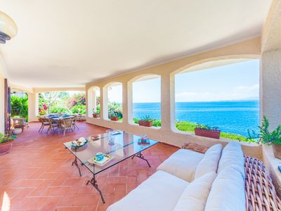 Photo for Waterfront, stunning views, private path down to the sea