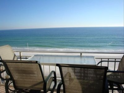 Your view from the balcony where you will often see the dolphins swim by