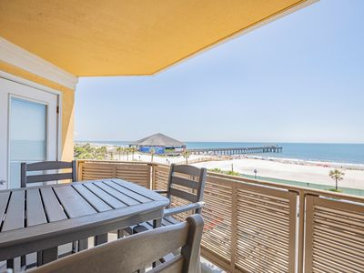 Photo for Top-floor Directly Oceanfront Condo with Unobstructed Views of the Ocean, Beach, and Pier